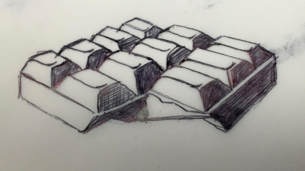 Dessin d'une tablette de chocolat