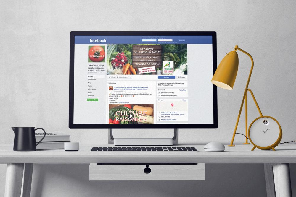 Portfolio - Page Facebook La Ferme de Borde Blanche