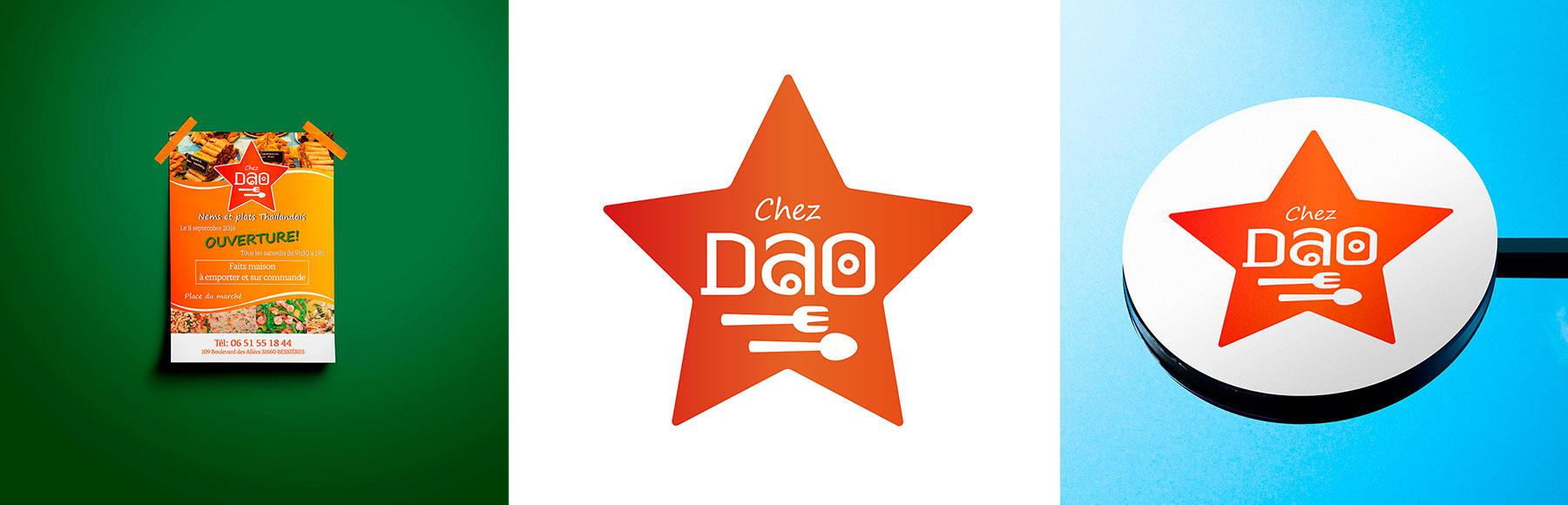 "Portfolio logo et flyer ""chez Dao"""