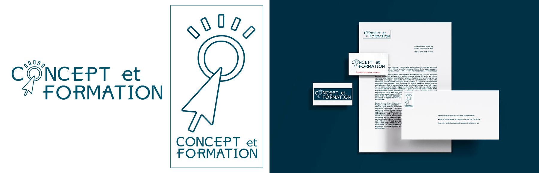 """logo et carte de visite """"Concept et Formation"""""""