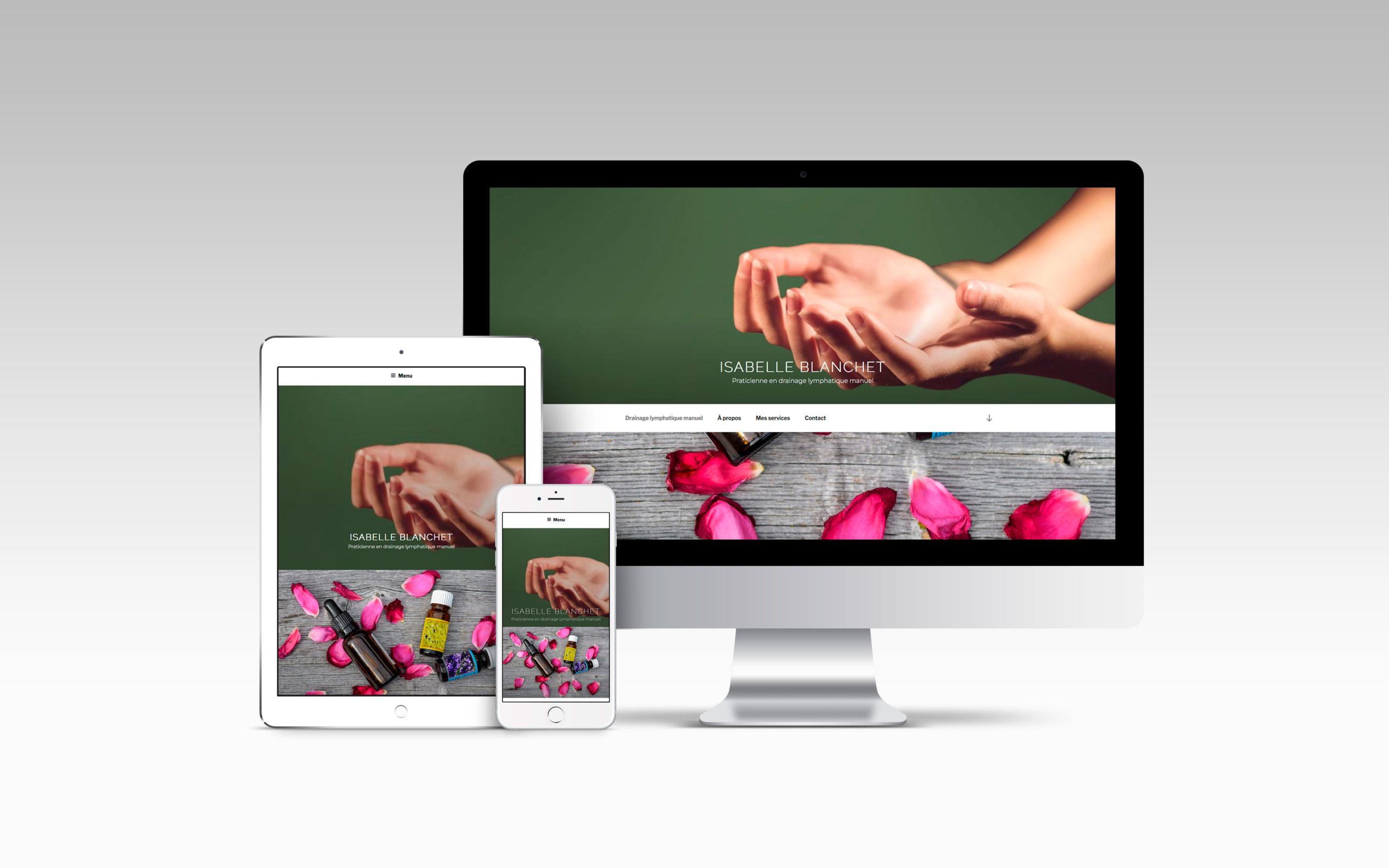 Portfolio - Site internet Isabelle Blanchet