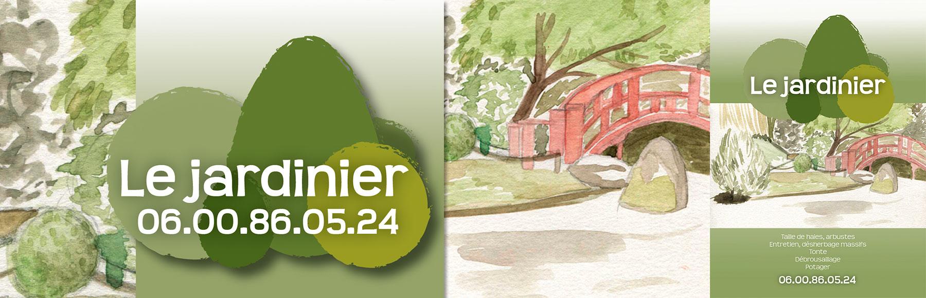 """Flyer et carte de visite """"le jardinier"""""""